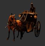 贵族马车与仆人