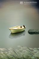孤舟野鸟意境风景