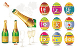 香槟和复活节彩蛋