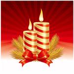 精美圣诞节蜡烛