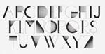 线条构成抽象字母