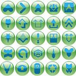 绿色水晶按钮
