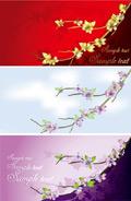 花朵卡片模板