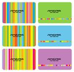 色彩卡片模板