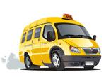 卡通黄色出租车