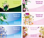 花卉卡片设计