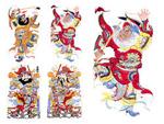 传统门神财神2