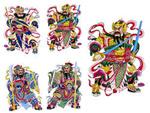 传统门神财神3