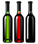 分层葡萄酒瓶