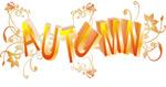 秋天矢量字体设计