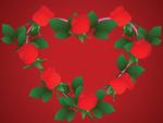 心形玫瑰花边框
