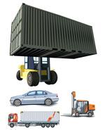轿车货柜车吊重车