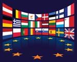 欧盟国家旗帜矢量