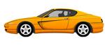 黄色汽车矢量