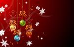 圣诞节挂球矢量2