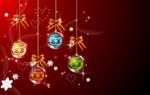 圣诞节挂球矢量4