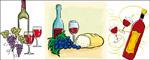 葡萄酒主题矢量