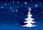 手绘笔触圣诞树