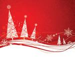 简约圣诞树雪花