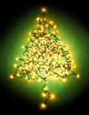 灯光组成的圣诞树