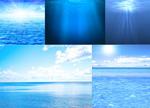 漂亮的海水