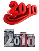 2010超酷立体字