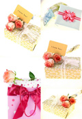 玫瑰花与礼物盒