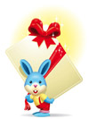 送卡片的兔子