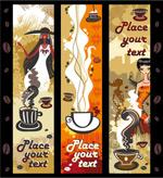 女性与咖啡主题