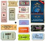 外国怀旧电影票