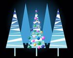 可爱圣诞树矢量