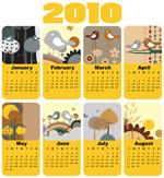 小鸟主题2010日历