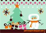 圣诞背景图案1