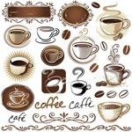 矢量咖啡图案