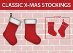 圣诞靴挂饰矢量