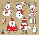 可爱圣诞节卡通