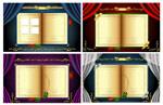 欧式古典金色书籍