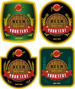 啤酒标签矢量