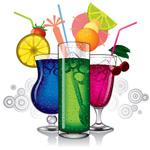 色彩丰富的饮品