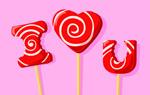 iloveyou糖果图片