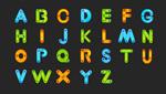 彩色卡通字母矢量