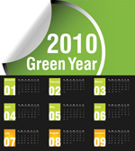 绿色2010年历