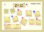 2010年贴纸日历