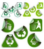 环保贴纸图标