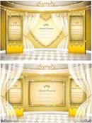 金色舞台矢量