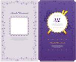 紫色花纹卡片