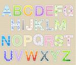 花纹英文字母