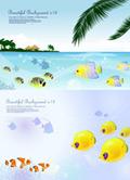 热带鱼主题矢量