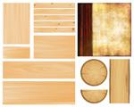 木板木纹矢量