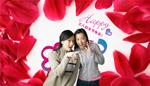 妇女节玫瑰花瓣